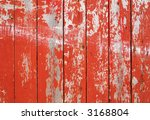 red flaky paint on a wooden... | Shutterstock . vector #3168804