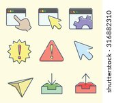 vector web interface icons for...