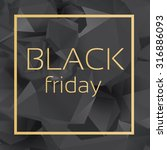 black friday crystal banner...   Shutterstock .eps vector #316886093