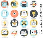 design and development theme ... | Shutterstock .eps vector #316887734