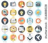 creative design theme  flat... | Shutterstock .eps vector #316888028