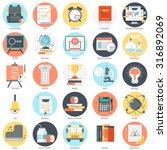 education theme  flat style ... | Shutterstock .eps vector #316892069