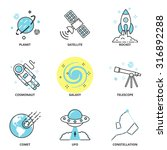 space vector icons set  planet  ... | Shutterstock .eps vector #316892288