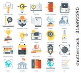 education theme  flat style ... | Shutterstock .eps vector #316892390