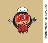 bbq party  barbecue  symbol ... | Shutterstock .eps vector #316897220