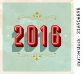 vintage new year's eve card  ... | Shutterstock .eps vector #316906898