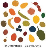 tropical fruits | Shutterstock .eps vector #316907048