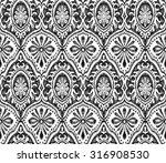 seamless wallpaper design.... | Shutterstock . vector #316908530