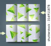 brochure template with abstract ... | Shutterstock . vector #316911878