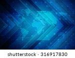 world map business background | Shutterstock . vector #316917830