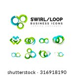set of infinity concepts  loop... | Shutterstock .eps vector #316918190