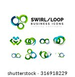 set of infinity concepts  loop... | Shutterstock .eps vector #316918229