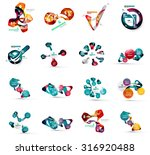 set of abstract geometric paper ... | Shutterstock .eps vector #316920488
