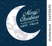 happy merry christmas design ... | Shutterstock .eps vector #316920650