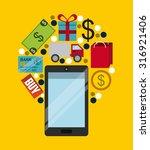 ecommerce device design  vector ... | Shutterstock .eps vector #316921406