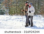 couple senior train nordic... | Shutterstock . vector #316924244