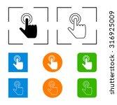 hand click icon | Shutterstock . vector #316925009