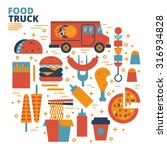 food truck  flat design ... | Shutterstock .eps vector #316934828