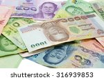 thai banknotes on a white... | Shutterstock . vector #316939853