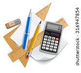 tools set for education  pencil ... | Shutterstock .eps vector #316947854