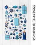 Collection Of Blue And...