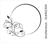 decorative branch with oval... | Shutterstock .eps vector #316961504