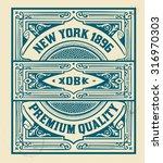 retro stamp design. organized... | Shutterstock .eps vector #316970303