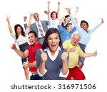 happy joyful people group... | Shutterstock . vector #316971506