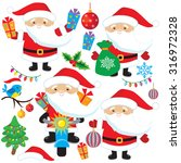 santa claus vector illustration | Shutterstock .eps vector #316972328