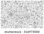 sketchy vector hand drawn... | Shutterstock .eps vector #316973000