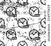 24h clock pattern  grunge ...