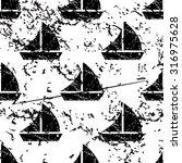 sailing ship pattern  grunge ...
