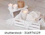 warm white wool sweaters on... | Shutterstock . vector #316976129