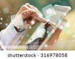 business tablet. | Shutterstock . vector #316978058