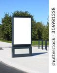 blank outdoor billboard in... | Shutterstock . vector #316981238