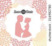 wedding invitation design ... | Shutterstock .eps vector #316982780