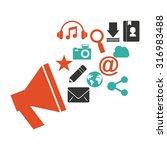 social media design  vector... | Shutterstock .eps vector #316983488