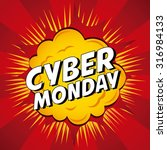 cyber monday deals design ... | Shutterstock .eps vector #316984133