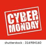 cyber monday deals design ... | Shutterstock .eps vector #316984160