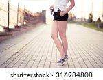 vintage beautiful fashion girl... | Shutterstock . vector #316984808