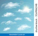 set of realistic transparent... | Shutterstock .eps vector #316986248