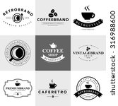 set of vintage coffee badges... | Shutterstock .eps vector #316988600