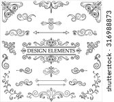 vintage hand drawn design... | Shutterstock .eps vector #316988873