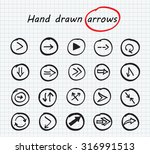 hand drawn vector arrows.black...   Shutterstock .eps vector #316991513