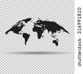 fashionable curved map of the...   Shutterstock . vector #316991810