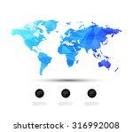 geometric world map design | Shutterstock .eps vector #316992008