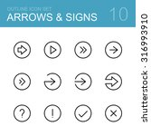 different arrows and signs  ... | Shutterstock . vector #316993910