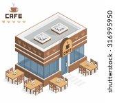 cafe building | Shutterstock .eps vector #316995950