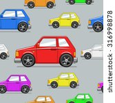 seamless pattern toy car vector ... | Shutterstock .eps vector #316998878