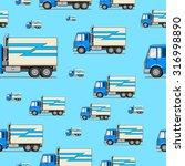 seamless pattern truck vector... | Shutterstock .eps vector #316998890